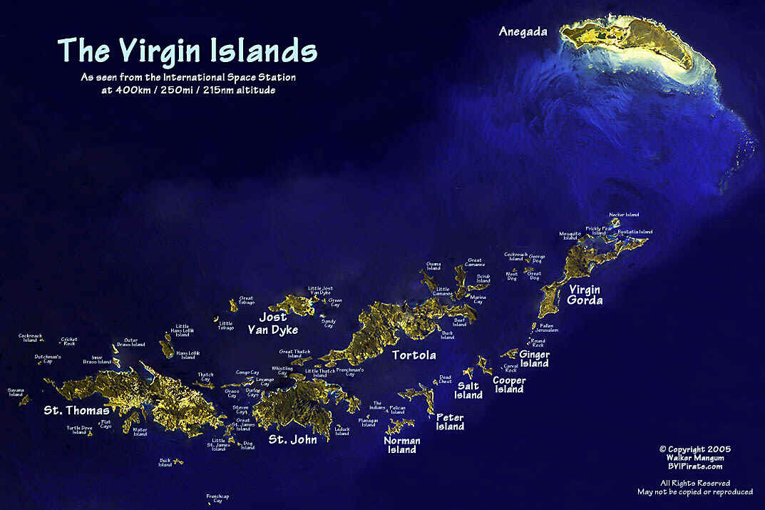 The Virgin Islands From Space