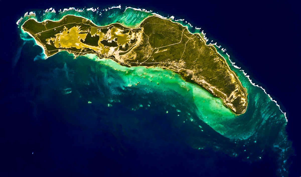 Anegada as seen from the International Space Station
