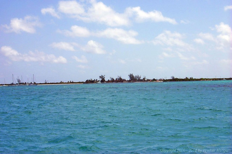 Arriving at Anegada!  This view is from the entrance channel, just before rounding the green inner buoy.