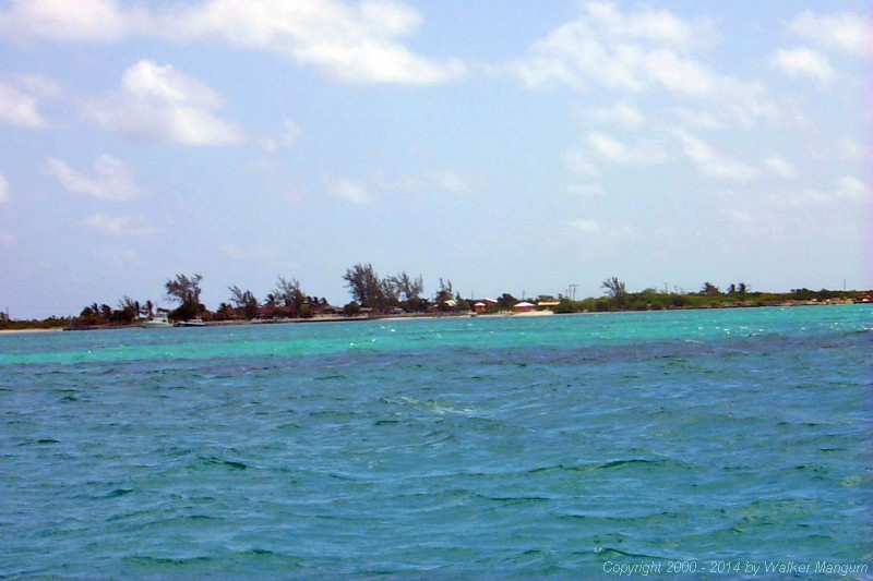 Arriving at Anegada!  This view is from the inner green buoy at the end of the entrance channel.