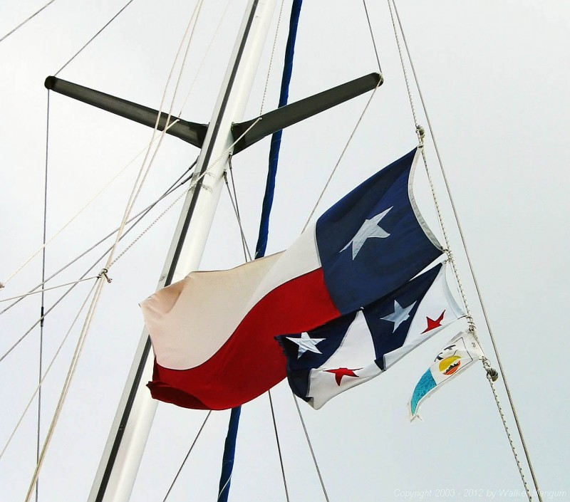 Flags flying on Arpeggio: Texas, Mangum, and TTOL