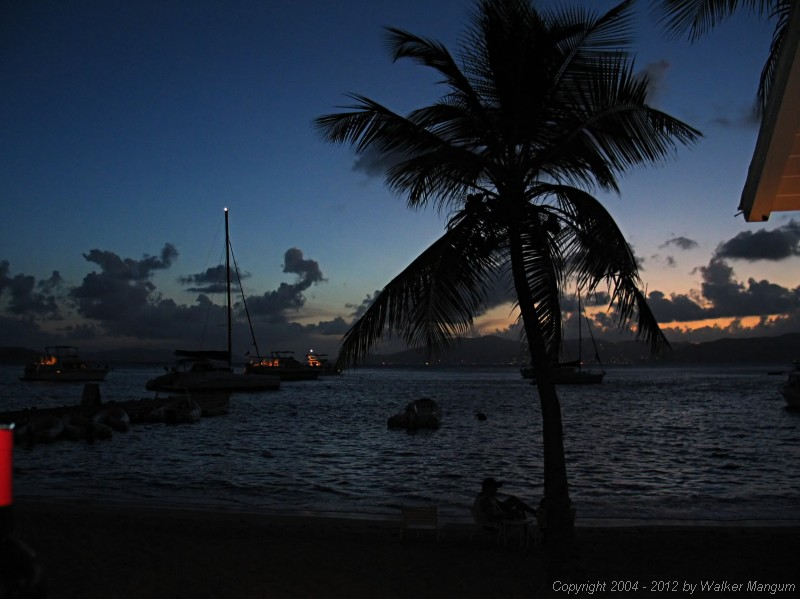 Sunset over Tortola (from Cooper Island).