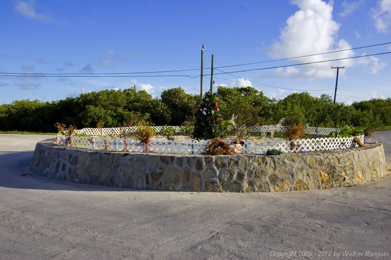 Christmas tree in the Anegada roundabout.