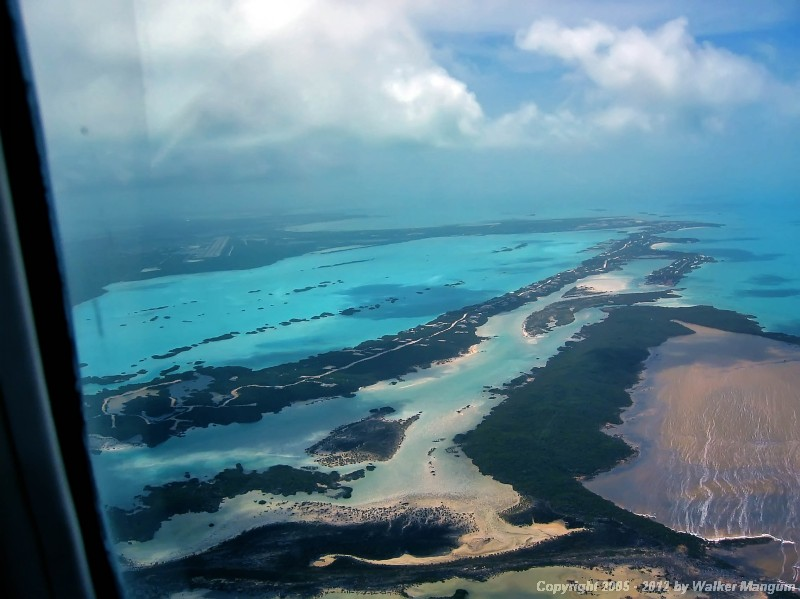 Right base for runway 10 at Providenciales, Caicos.