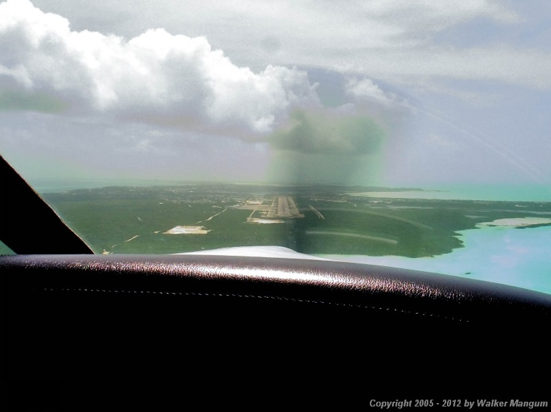 Final for runway 10 at Providenciales, Caicos.