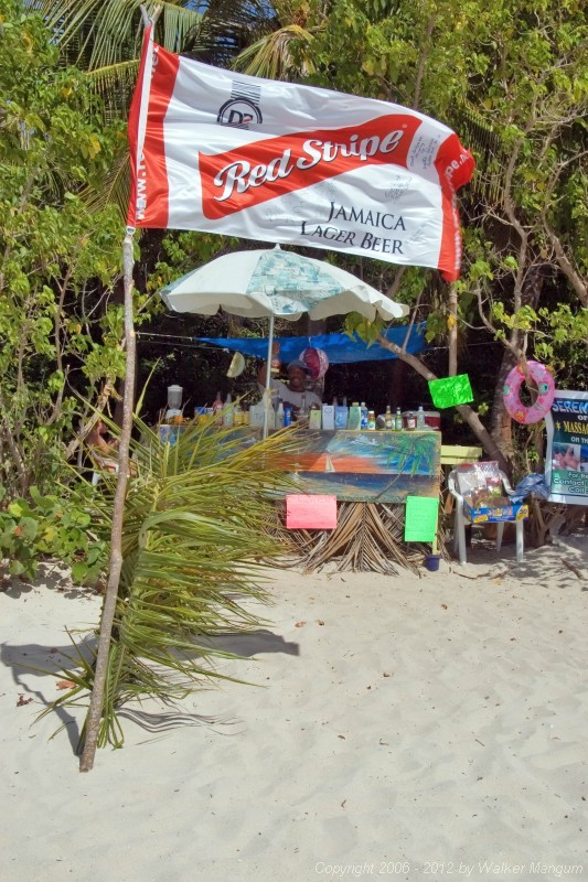 Eugene's beach bar at Smuggler's Cove.