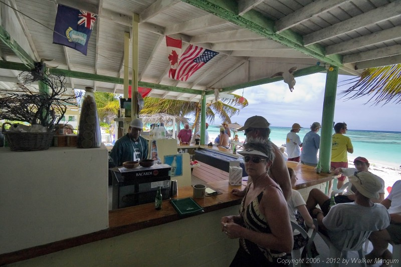 Busy day at Cow Wreck - the Dark and Stormy Regatta is on the island.