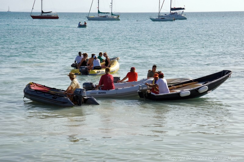 Dark and Stormy lay day activities at Neptune's Treasure: dinghy races.