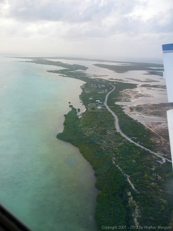 Flying into Anegada on Island Birds.