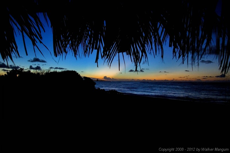Sunset from the palapa.