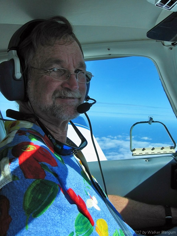 Next day - at 9,500 feet - happy pilot - on the way to Providenciales.