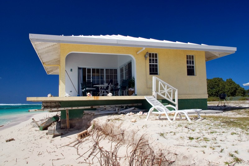 Anegada Seaside Cottages - unit 2 soon to be in the sea.