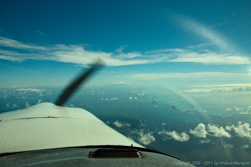 Flying down the Exumas