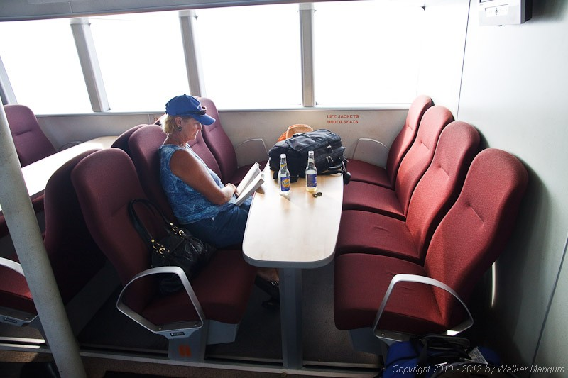 On the way to Anegada on the BVI Patriot - the new Road Town Fast Ferry catamaran.