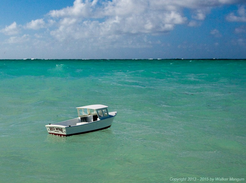 """Red Wine"" afloat on Anegada"