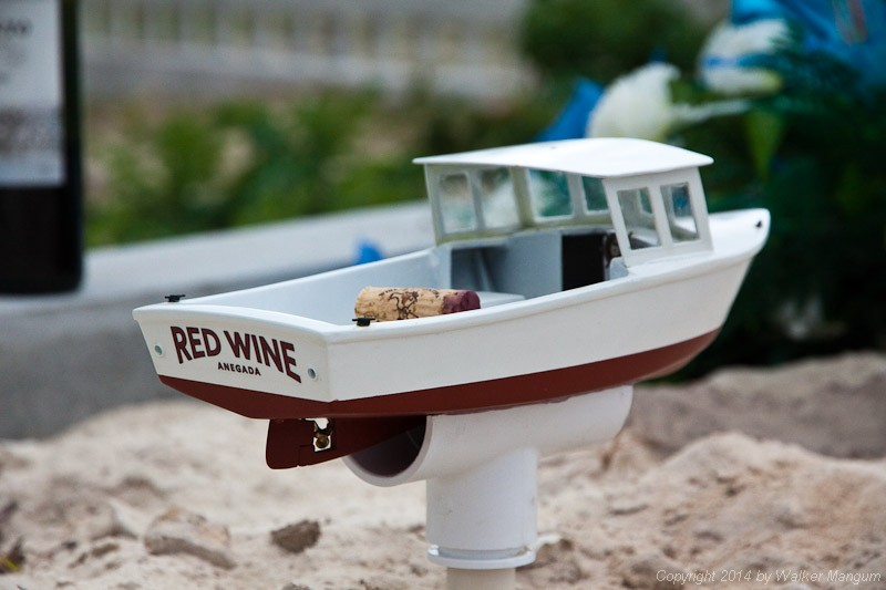 """Red Wine"" on her final mooring with Kenneth, hauling the cork of the first bottle of red wine shared at Kenny's gravesite."